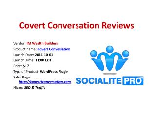 Covert Conversation Reviews Bonuses