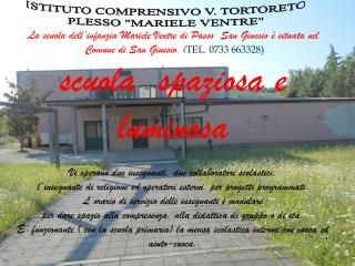 La scuola dell'infanzia Mariele Ventre di Passo  San Ginesio è situata nel