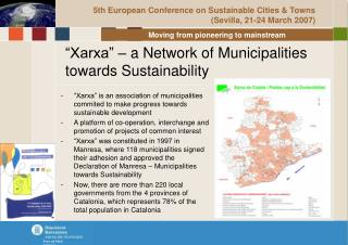 �Xarxa� � a Network of Municipalities towards Sustainability