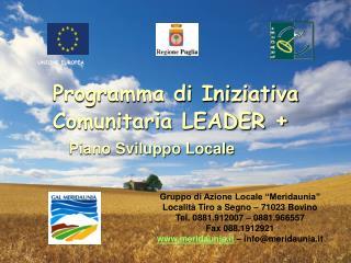 Programma di Iniziativa Comunitaria LEADER  +