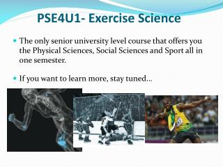 PSE4U1- Exercise Science