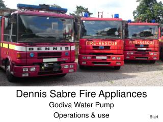 Dennis Sabre Fire Appliances
