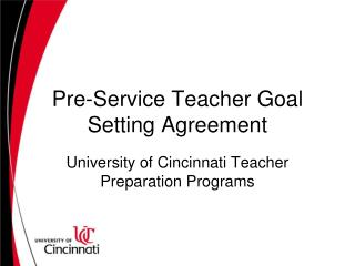 Pre-Service Teacher Goal Setting Agreement