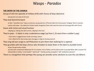Wasps -  Parados