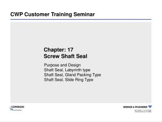 CWP Customer Training Seminar