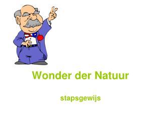 Wonder der Natuur stapsgewijs
