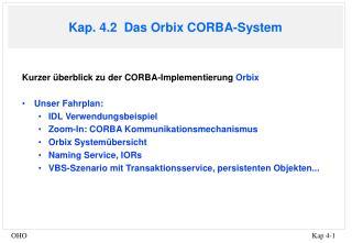 Kap. 4.2  Das Orbix CORBA-System