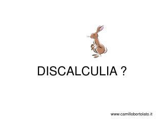 DISCALCULIA ?