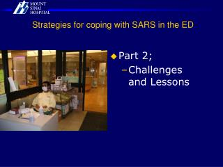 Strategies for coping with SARS in the ED