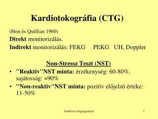 Kardiotokográfia (CTG)