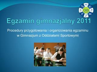 Egzamin gimnazjalny 2011