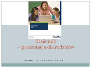 iDziennik – prezentacja dla rodziców