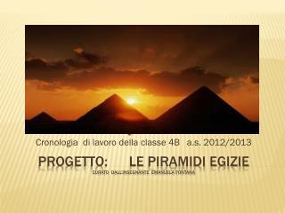 progetto:      Le piramidi egizie curato  dall'insegnante   Emanuela fontana