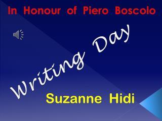 In   Honour   of  Piero  Boscolo