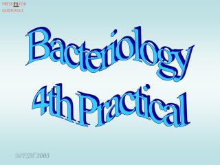 Bacteriology 4th Practical