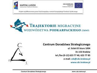 Centrum Doradztwa Strategicznego ul. Szlak 65 biuro 1004 31-153 Kraków