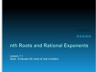 nth Roots and Rational Exponents