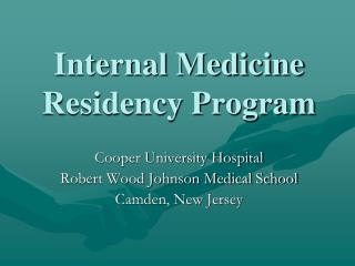 Internal Medicine  Residency Program