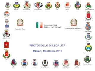 PROTOCOLLO  DI  LEGALITA '