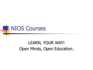 NIOS Courses
