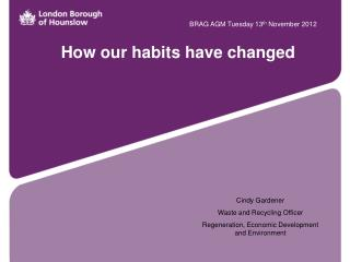 How our habits have changed