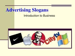 Advertising Slogans