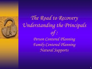 Person and Family Centered Planning