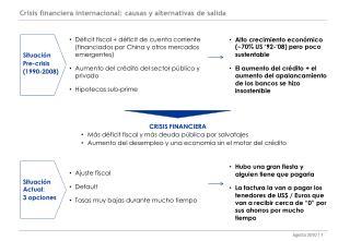 Crisis financiera internacional: causas y alternativas de salida