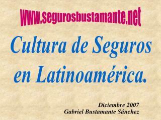 Cultura de Seguros en Latinoamérica.