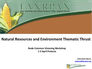 Natural Resources and Environment Thematic Thrust
