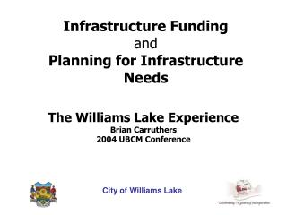 Infrastructure Funding and Planning for Infrastructure Needs
