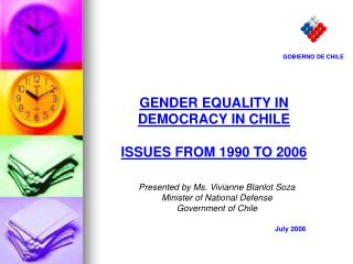 GENDER EQUALITY IN DEMOCRACY IN CHILE ISSUES FROM 1990 TO 2006
