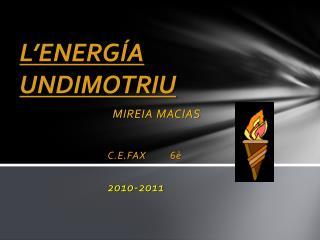 L'ENERGÍA UNDIMOTRIU