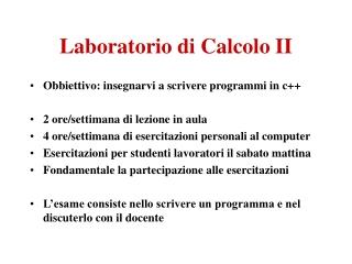 College 1: Programma