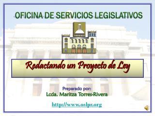 Redactando un Proyecto de Ley