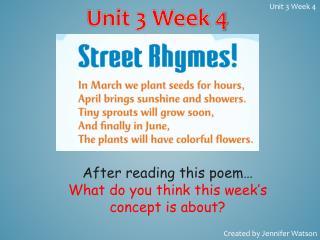 Unit 3 Week  4