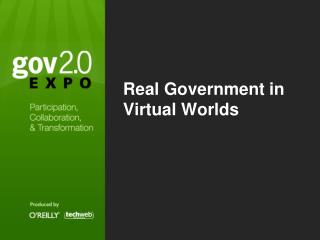 Real Government in Virtual Worlds
