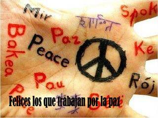 Felices los que trabajan por la paz