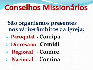 Conselhos Missionários