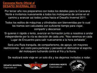Caravana Norte Oficial al DESAFÍO INVERNAL 2011