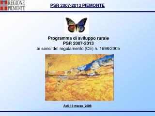Programma di sviluppo rurale PSR 2007-2013 ai sensi del regolamento (CE) n. 1698/2005