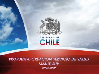PROPUESTA: CREACION SERVICIO DE SALUD MAULE SUR Junio 2010