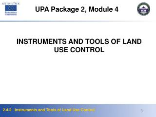 UPA Package 2, Module  4