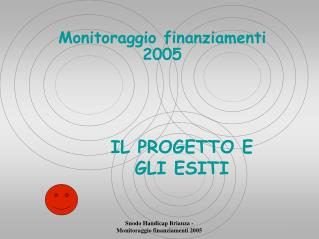 Monitoraggio finanziamenti 2005