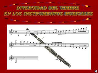 DIVERSIDAD DEL TIMBRE  EN LOS INSTRUMENTOS MUSICALES