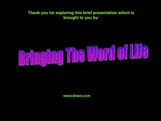 Thank you for exploring this brief presentation which is brought to you by-