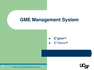 GME Management System