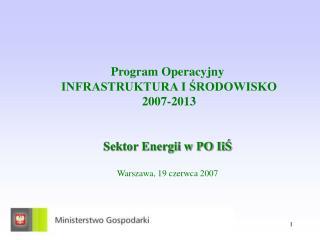 Oś priorytetowa X Infrastruktura energetyczna przyjazna środowisku