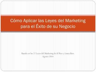 Cómo Aplicar las Leyes del Marketing para el Éxito de su Negocio