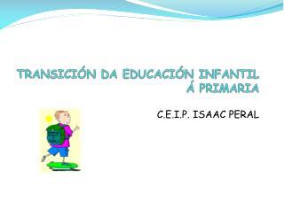 TRANSICIÓN DA EDUCACIÓN INFANTIL Á PRIMARIA